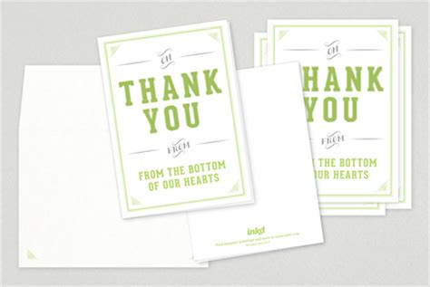 Small Thank You Card Template by Wedding Thank You Card Template Inkd