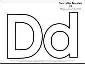 Letter D Template by Educational Printables Alphabet Templates