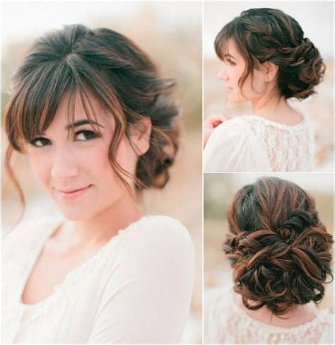 bridal hairstyles bangs 10 best updos with bangs images on pinterest hairstyles