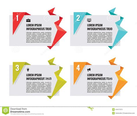 origami vector banners infographic concept stock vector