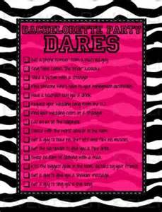 Bachelorette party dares game diy printable some of these dares