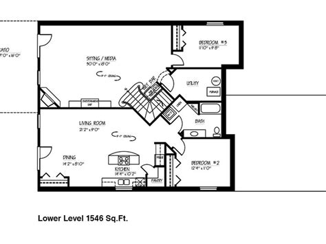 house plans with finished basements small ranch house floor plans with basement on 1600 sq ft