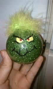 grinch ornament handmade christmas pinterest