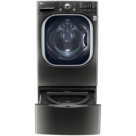 pedestal washer wd100ck lg appliances 27 quot pedestal washer black stainless