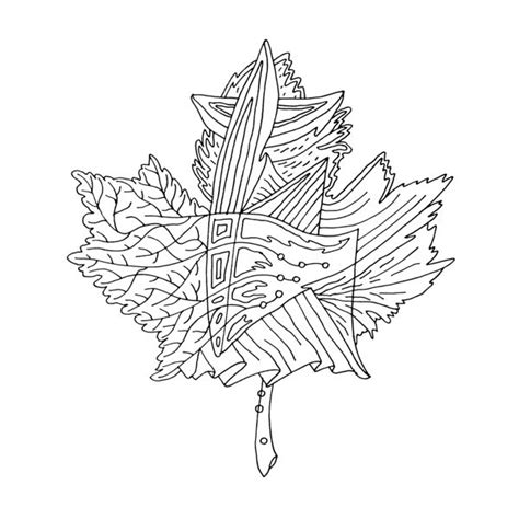 coloring pages of a maple leaf canadian maple leaf colouring page by donald lee