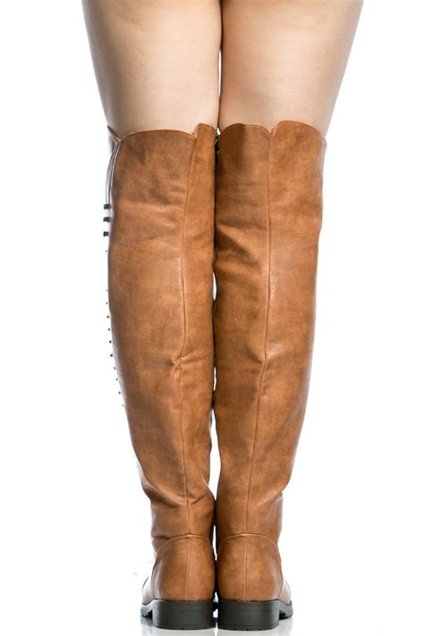 camel thigh high boots camel faux leather thigh high combat boots cicihot boots
