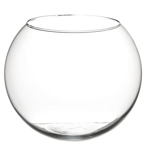 20cm Fish Bowl Vase by Glass Vase Bowl