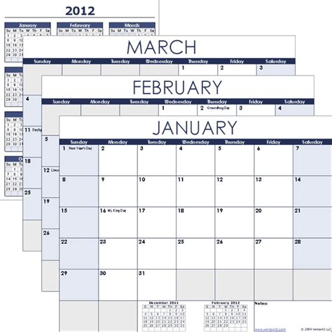 excel quarterly calendar template free calendar templates for 2013