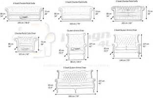 Settee Dimensions Chesterfield Furniture Measurements Designersofas4u