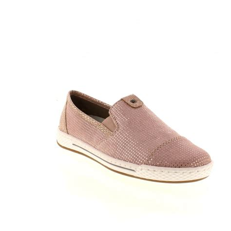 Slip On Shoes Pink rieker l3051 31 pink combination slip on shoes rieker from rieker uk