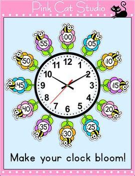 themes clock time telling time clock labels flowers bees theme classroom