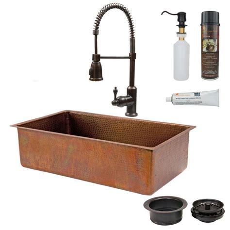 Kitchen Sink Copper Sinkology Angelico Drop In Handmade Copper 33 In 4 Single Bowl Copper Kitchen Sink In