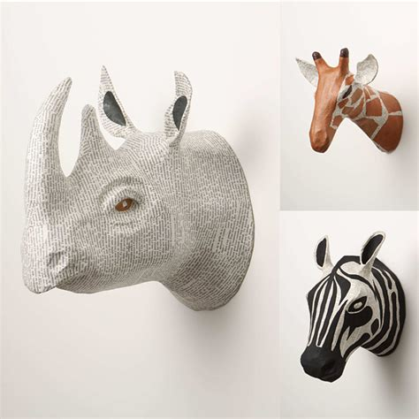 How To Make Paper Mache Animal Heads - say hi to design paper mache animal trophies