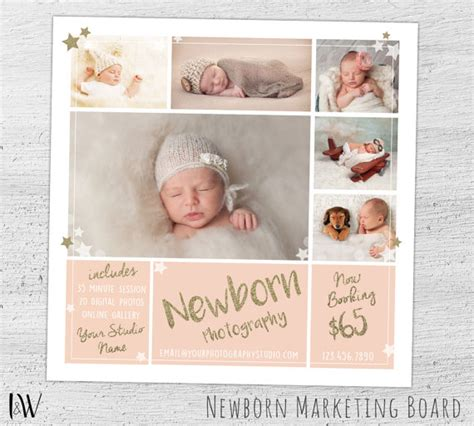 photography flyer templates photoshop newborn photography marketing board newborn mini session