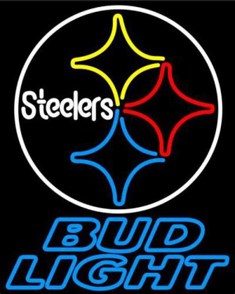 bud light nfl neon sign nfl bud light pittsburgh steelers neon sign and similar items