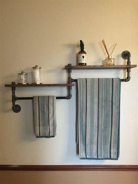 bathroom towel racks shelves industrial bathroom towel rack bathroom shelf by