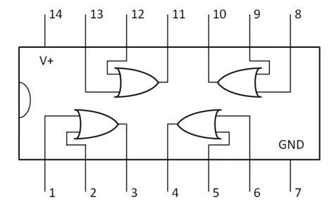 2 input transistor or gate 4071b 2 input or gate datasheet kitronik