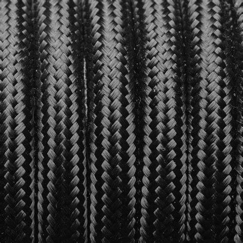 Vintage Green Round Fabric Flex   3 Core Braided Cloth