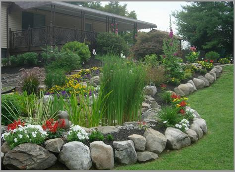 Rocks For Garden Borders Boulder Retaining Wall Retaining Walls And Fence On