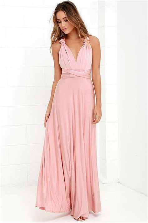 blush colored maxi dress pretty maxi dress convertible dress blush pink dress