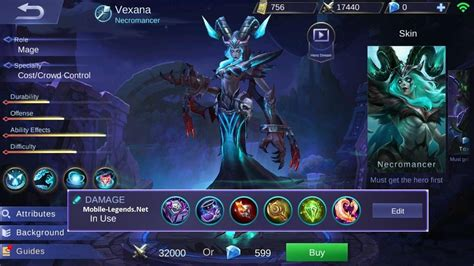 mobile legend damage vexana magic damage item build 2018 mobile legends