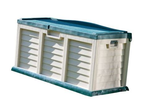 outdoor plastic storage bench buy rowlinson plastic garden storage bench from our outdoor storage range tesco