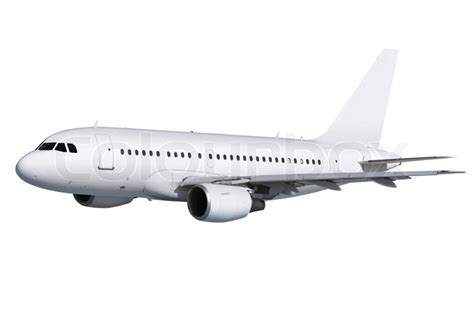 Home Plans Free Online commercial airplane on white background with path stock