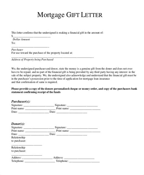 mortgage payment gift letter template gift letter for mortgage bravebtr