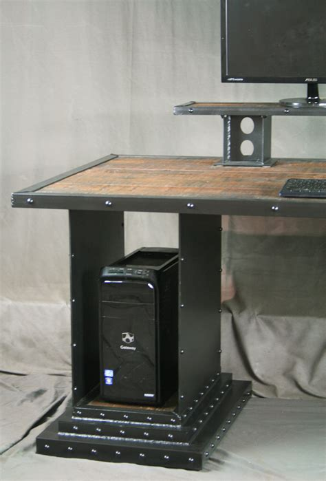 reclaimed wood standing desk combine 9 industrial furniture reclaimed wood desk