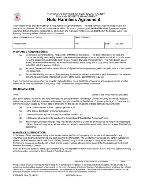 waiver of liability and hold harmless agreement template 2018 hold harmless agreement fillable printable pdf
