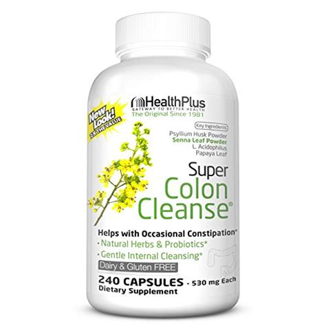 Health Plus Herbal Detox Senna Leaf Powder Review by Health Plus Colon Cleanse 240 Capsules 120