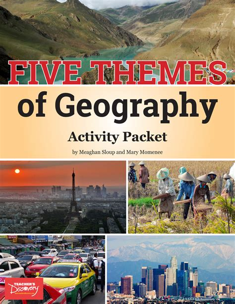 themes of geography packet five themes of geography chart set social studies
