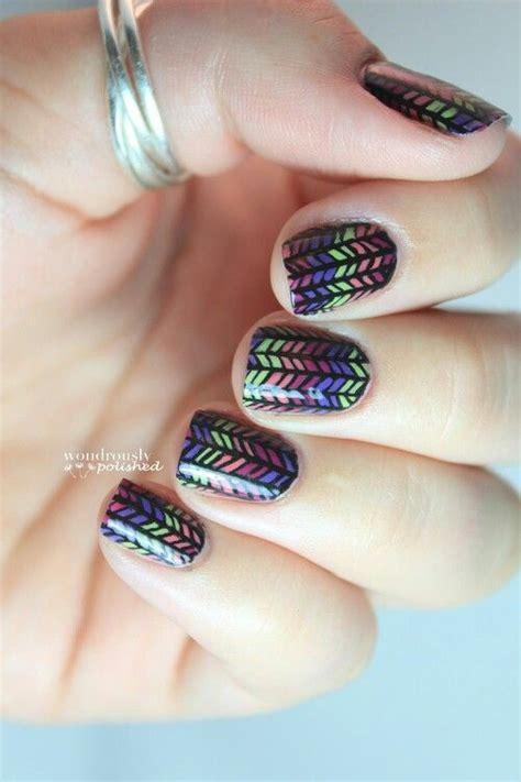 herringbone nail art tutorial sweater knit nail art nail art pinterest herringbone