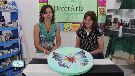 youtube decorarte en casa primera parte lindisima mariposa muy colorida y con