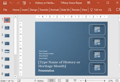 History Or Heritage Month Powerpoint Template Eye Catching Powerpoint Templates