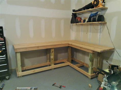 diy garage bench useful wood workbench plans diy woodworking project simple