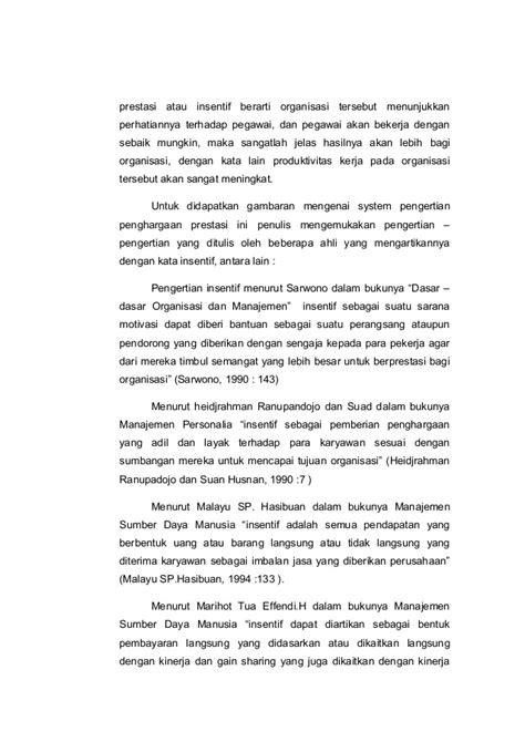 Organisasi Motivasi Malayu Hasibuan skripsi quot pengaruh tingkat kesejahteraan terhadap kinerja