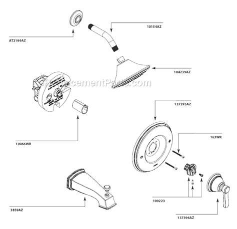 Moen Shower Replacement Parts by Moen Ts3211az Parts List And Diagram Ereplacementparts