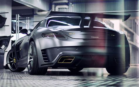 mansory mercedes sls mansory mercedes sls c63 amg back view hd cars 4k