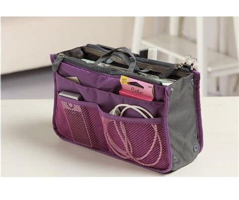 Bag In Bag Organizer Dual Bag Hitam Tas Serbaguna Kwalitas Termurah Fr anhua 174 purse organizer insert multi function cosmetic storage bag in bag handbag travel makeup