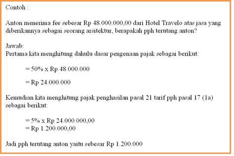 perhitungan pajak pph 21 untuk jasa tenaga ahli mulai pajak pajak penghasilan pasal 21 wp bukan pegawai dan