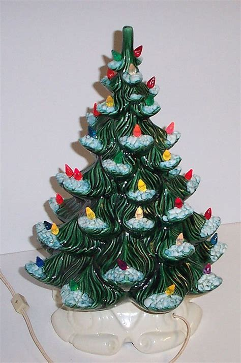 vintage lighted ceramic christmas tree atlantic mold