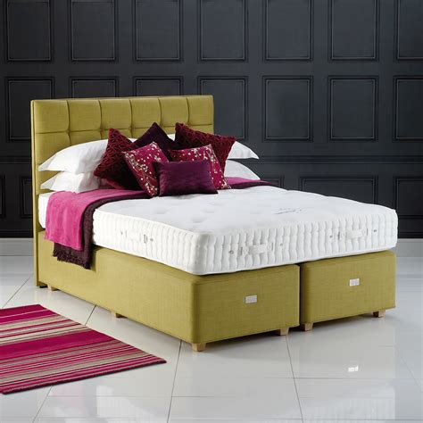 contemporary upholstered headboards hypnos grace contemporary button upholstered headboard
