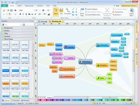 edraw mind map brainstorming and mind mapping software