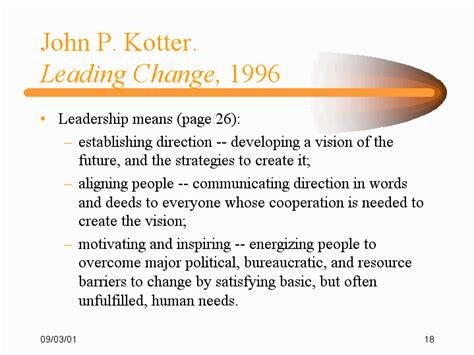 kotter j leading change john kotter model driverlayer search engine