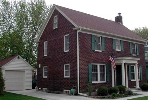 brick colonial house uwec g367 vogeler new england colonial