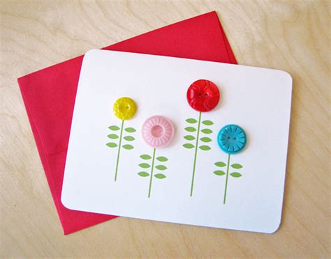 Diy Flower Card Template by Simple Notecard With Buttons How About Orange