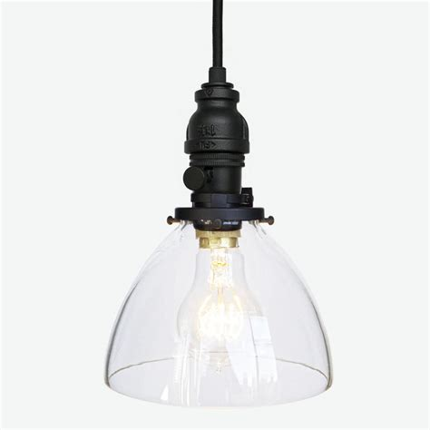 Hand Blown Glass Industrial Rustic Pipe Pendant Light Rustic Glass Pendant Lighting