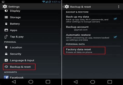 reset android without losing root how to restore the factory default settings on android device