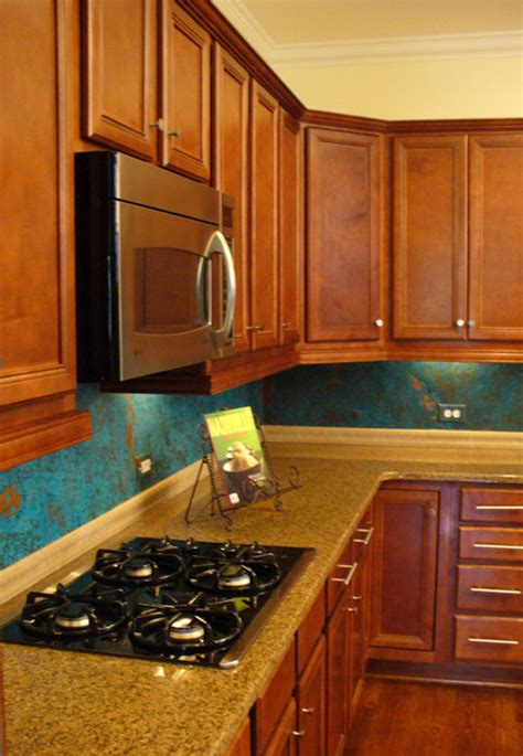 kitchen copper backsplash by dchi homerefurbers com